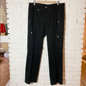Bogner Cargo Black Pants Size 14 Long
